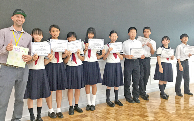 中学2年 English Camp 最終日